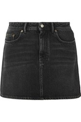 Acne Studios Caitlyn Denim Mini Skirt Black