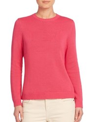 Vineyard Vines Whale Intarsia Cotton Sweater Rhododendron