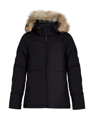 Canada Goose Chelsea Fur Trimmed Down Parka Navy