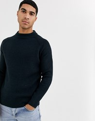 Burton Menswear Fisherman Knitted Jumper In Purple