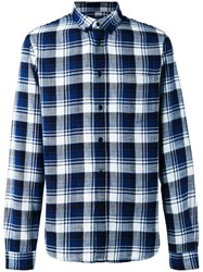 Levi's Made And Crafted Checked Shirt Blue