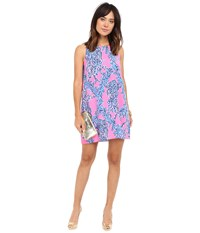 Lilly Pulitzer Jackie Shift Dress Kir Royal Pink Caught In The Coral Women's Dress Purple