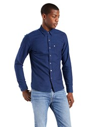 Levi's Sunset 1 Pocket Gingham Long Sleeve Shirt Indigo