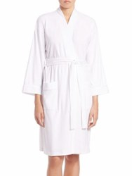 Saks Fifth Avenue Collection Pima Cotton Jersey Robe White