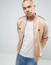 Ellesse Poly Track Jacket With Taping Stone
