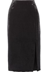 Jason Wu Velvet Midi Skirt Black