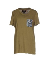 Reign Topwear T Shirts Women Military Green