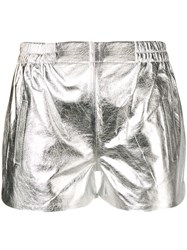 Laneus Pull On Shorts Silver
