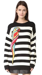 Marc Jacobs Long Sleeve Crew Sweater Black Multi