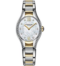 Raymond Weil 5124 Sps00985 Noemia Stainless Steel Yellow Gold Diamond And Mother Of Pearl Watch Mother Of Pearl