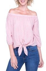 Liverpool Jeans Company Off The Shoulder Top Dusty Red