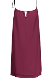 Rag And Bone Samantha Layered Silk Crepe De Chine Mini Dress Plum