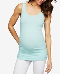 A Pea In The Pod Maternity Ruched Tank Top Eggshell Blue