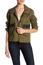 Jolt Embroidered Pocket Jacket Green