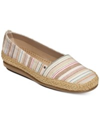 Aerosoles Solitaire Espadrille Flats Women's Shoes Bone Multi