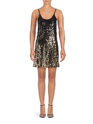 Saks Fifth Avenue Bethany Sequin Embellished Dress Burgundy