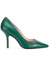 Anna F. Pointed Toe Pumps Green