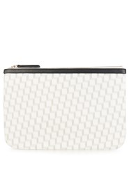 Pierre Hardy Cube Print Coated Canvas Pouch White Black