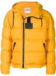 Kenzo Padded Jacket Feather Down Polyamide Polyester S Yellow Orange