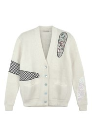 Christopher Kane Cut Out Cardigan Neutral
