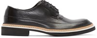 Mcq By Alexander Mcqueen Black Leather Columbia Derbys