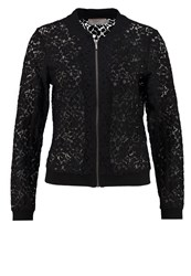 Cream Lulu Bomber Jacket Pitch Black
