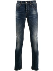 Dondup George Distressed Slim Fit Jeans Blue