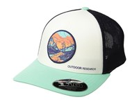 Outdoor Research Alpenglow Trucker Cap Tahiti Caps Green