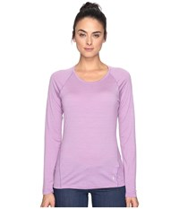Smartwool Merino 150 Baselayer Pattern Long Sleeve Lilac Women's Clothing Purple