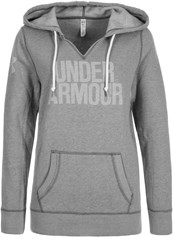 Under Armour Favorite Hoodie True Gray Heather White Light Grey