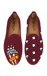 Del Toro M'o Exclusive Popcorn Slipper Burgundy