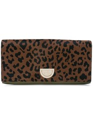 Diane Von Furstenberg Dvf East West Haircalf Clutch Bag Brown