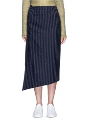 Acne Studios 'Pate' Pinstripe Pencil Wrap Skirt Blue