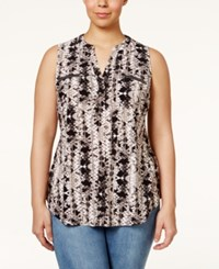 Inc International Concepts Plus Size Sleeveless Snakeskin Print Blouse Only At Macy's Charmed Snake