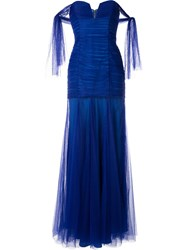 Alice Mccall Good Vibes Strapless Gown Blue