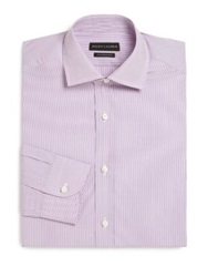 Ralph Lauren Black Label Tailored Fit Striped Dress Shirt Violet