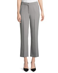 Emporio Armani Straight Leg Cropped Pants Gray