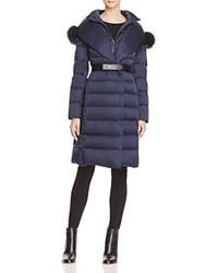 Maximilian Furs X Guy Laroche Fox Fur Trim Down Coat Bloomingdale's Exclusive Iris Purple