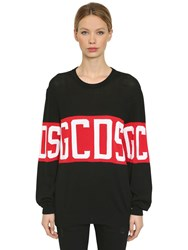 Gcds Logo Knitted Sweater Black
