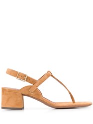 L'autre Chose Buckled Chunky Heel Sandals 60