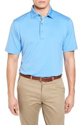 Bobby Jones Men's Xh20 Regular Fit Stretch Golf Polo Sky Blue