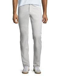 Ag Adriano Goldschmied Everett Slim Straight Twill Pants Pale Cinder