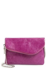 Hobo Daria Convertible Leather Crossbody Clutch Pink
