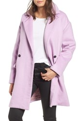 Leith Oversize Double Breasted Coat Purple Fragrant