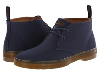 Dr. Martens Mayport 2 Eye Desert Boot Navy Overdyed Twill Canvas Men's Lace Up Boots Black