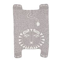 Donna Wilson Lion Shaped Mini Blanket Grey