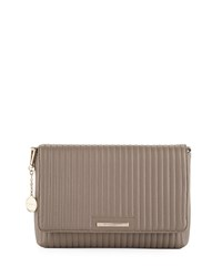 Donna Karan Medium Flap Quilted Crossbody Bag Beige