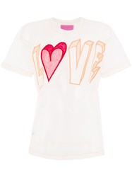 Viktor And Rolf Love Slogan T Shirt Pink And Purple