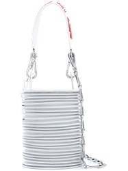 Paco Rabanne Slogan Strap Tote Women Calf Leather One Size White