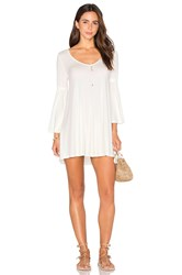 Rachel Pally Flutter Sleeve Mini Dress White